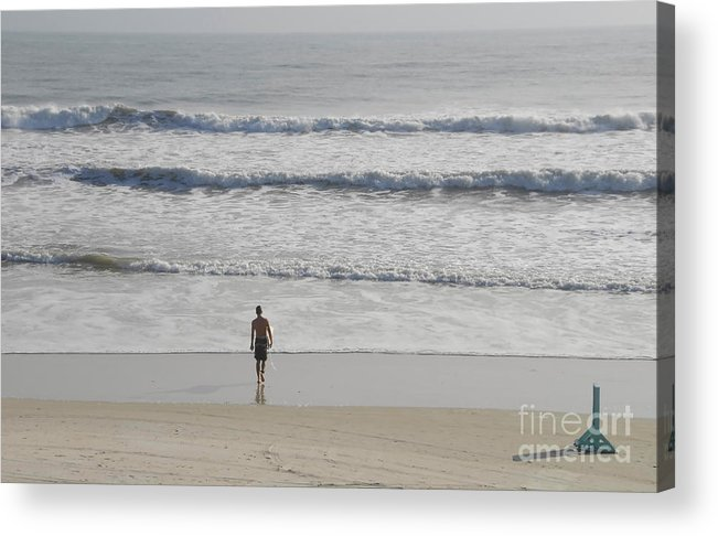 Surfing Acrylic Print featuring the photograph Morning Surf by David Lee Thompson