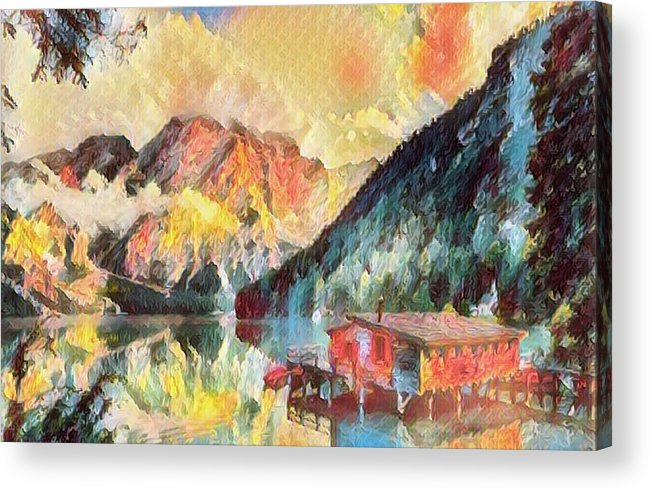Abstract Acrylic Print featuring the photograph Mountain Retreat by Robert Kinser