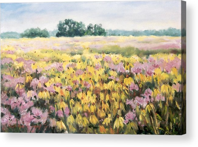 Ingrid Dohm Acrylic Print featuring the painting Nygren Wetlands by Ingrid Dohm