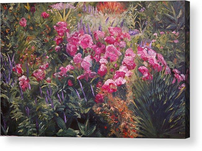 Konkol Acrylic Print featuring the painting Olbrich Garden Series - Garden 1  by Lisa Konkol