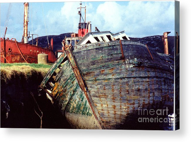 Old Boat Acrylic Print featuring the photograph Old Boat by PJ Cloud