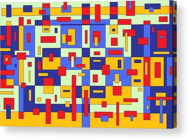 Digital Artwork Acrylic Print featuring the painting Organize by Jordana Sands