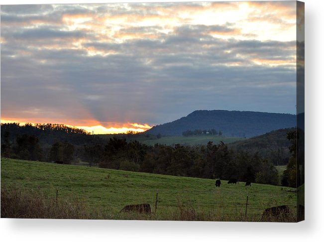Sunsets Acrylic Print featuring the photograph Peaceful Evening by Jan Amiss Photography