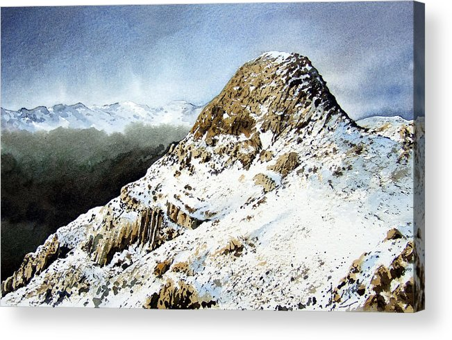 Pike O' Stickle Acrylic Print featuring the painting Pike O' Stickle by Paul Dene Marlor