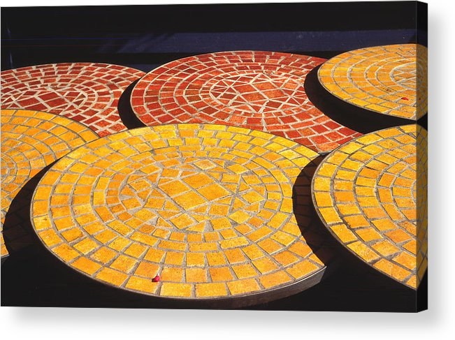 Quebec Acrylic Print featuring the photograph Quebec Tables 2 by Art Ferrier