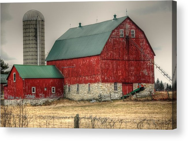 Rcouper Acrylic Print featuring the photograph Red Barn11 by Rick Couper