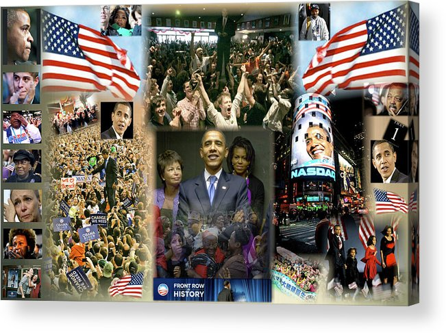 Barack Acrylic Print featuring the digital art Respectfully Yours..... Mr. President by Terry Wallace