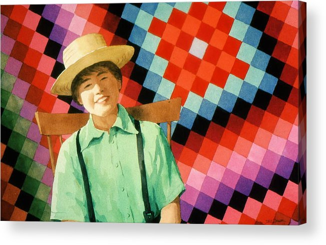 Amish Acrylic Print featuring the painting Sam by Faye Ziegler