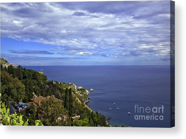 Landscape Acrylic Print featuring the photograph Sea View From Taormina by Madeline Ellis