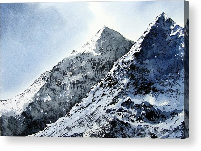 Snowdon Acrylic Print featuring the painting Snowdon by Paul Dene Marlor