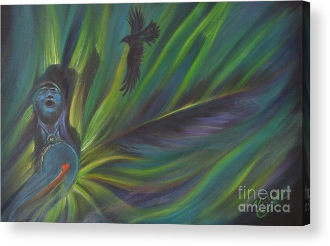 Spirit Guides. Soul Acrylic Print featuring the painting Soul Cadence by Vicki Caucutt