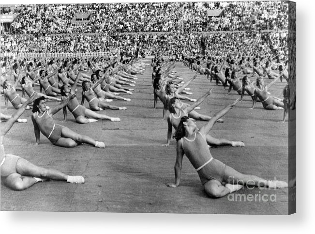 1947 Acrylic Print featuring the photograph Soviet Union: Gymnasts by Granger