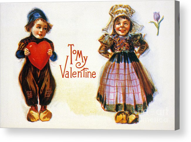 1900 Acrylic Print featuring the photograph St. Valentines Day Card by Granger