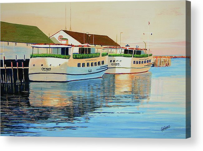 Mackinac Island Acrylic Print featuring the painting Sunset On Mackinac by Keith Grindall