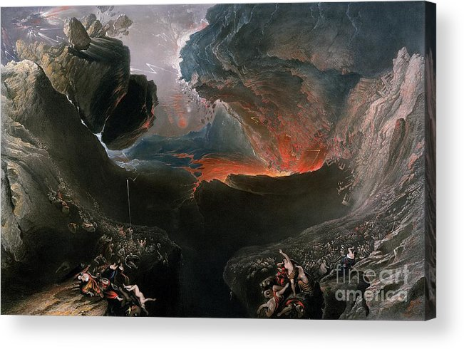 The Acrylic Print featuring the painting The Great Day Of His Wrath by Charles Mottram