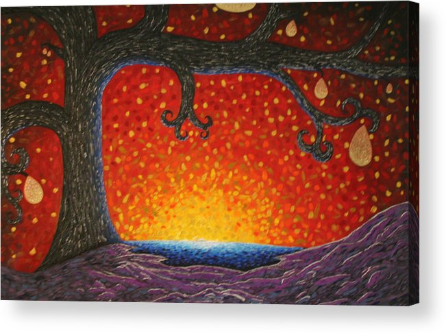Tree Art Acrylic Print featuring the painting The Waker 2 by Amy Parker Evans