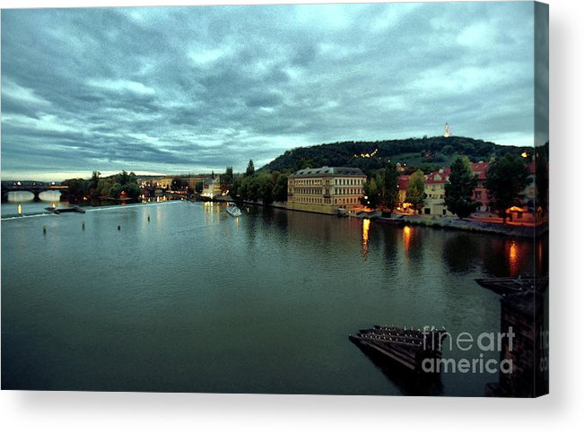 Vltava Acrylic Print featuring the photograph Vltava View 2 by Madeline Ellis
