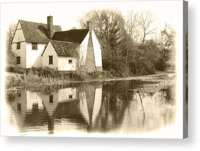 Willy Lots Cottage Acrylic Print featuring the photograph Willy Lots Cottage by Terence Davis