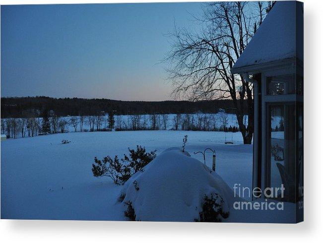 Winter Acrylic Print featuring the photograph Winter Sunrise On Demond Pond by John Black
