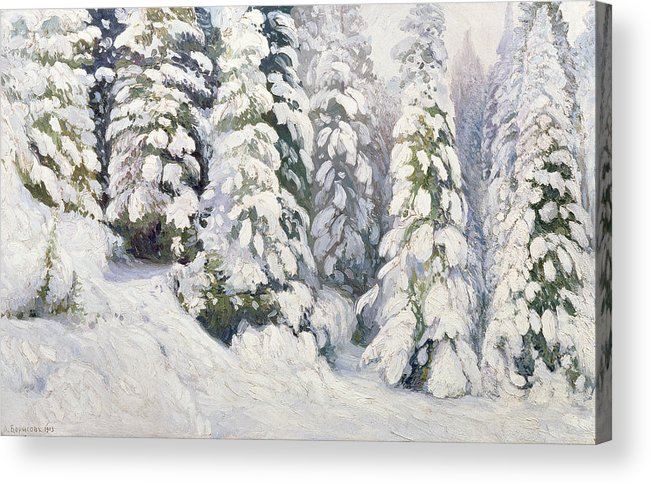 Winter Acrylic Print featuring the painting Winter Tale by Aleksandr Alekseevich Borisov
