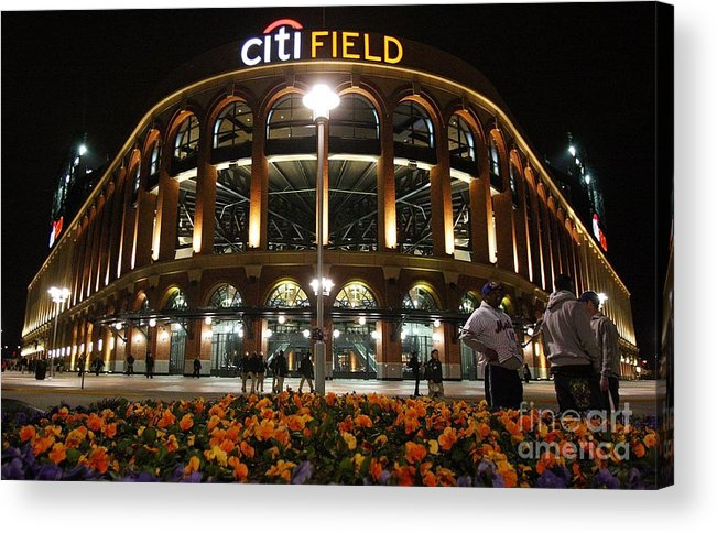 Defeat Acrylic Print featuring the photograph San Diego Padres V New York Mets by Jim Mcisaac
