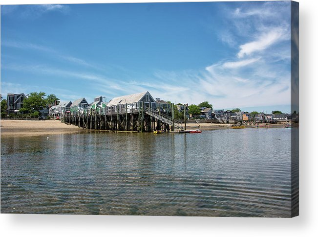 Provincetown Acrylic Print featuring the photograph Captain Jack's Wharf - Provincetown Harbor - Massachusetts by Brendan Reals