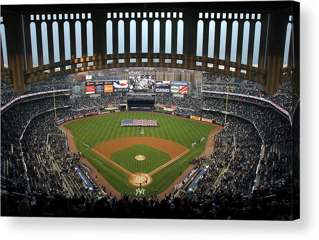 National League Baseball Acrylic Print featuring the photograph Chicago Cubs V New York Yankees by Ezra Shaw