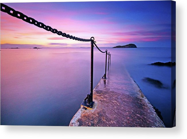 Lothian Acrylic Print featuring the photograph Sunset At Sea by Stewart Hardy