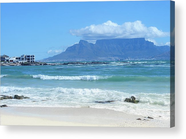 Outdoors Acrylic Print featuring the photograph Table Mountain Cape Town by John Snelling