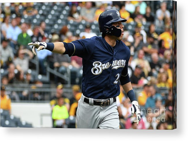 Second Inning Acrylic Print featuring the photograph Christian Yelich by Justin Berl