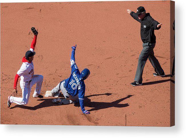 People Acrylic Print featuring the photograph Edwin Encarnacion by Michael Ivins/boston Red Sox