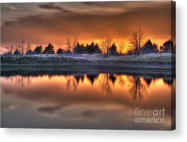 Sunset Acrylic Print featuring the photograph Sunset Over Bryzn by Art Whitton