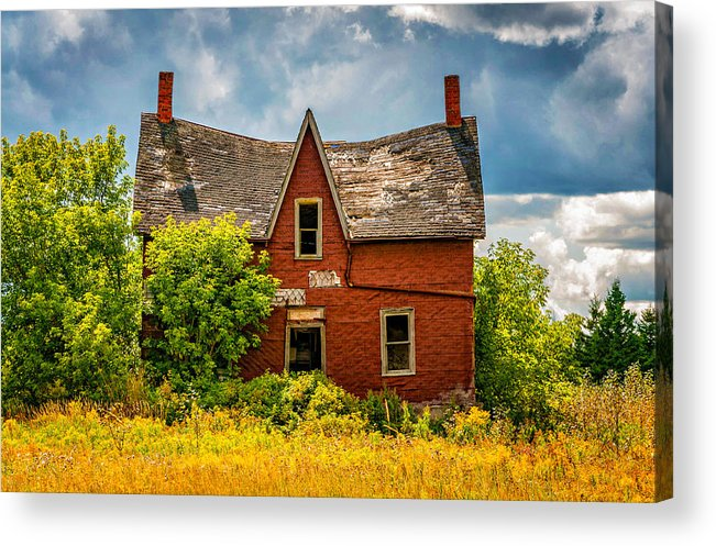 Ontario Acrylic Print featuring the photograph Weight Of The World by Steve Harrington