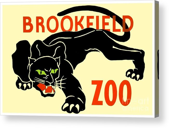 1930 Acrylic Print featuring the digital art 1930 - Brookfield Zoo Poster - Boston - Color by John Madison