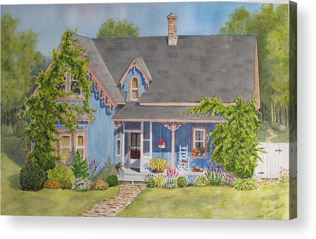 Canada Acrylic Print featuring the painting My Blue Heaven by Mary Ellen Mueller Legault