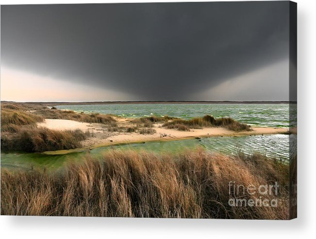 Outer Banks Acrylic Print featuring the photograph A Storm A Coming - Outer Banks I by Dan Carmichael