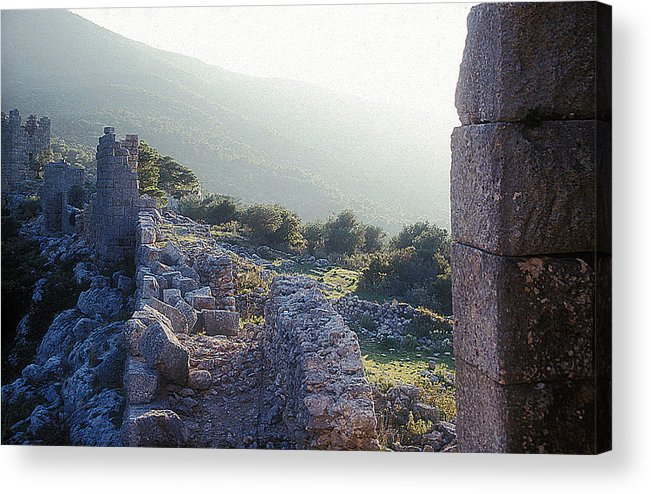 Aegosthena Fortress Acrylic Print featuring the photograph Aegothena Fortification by Andonis Katanos