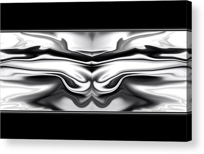 Ascension Acrylic Print featuring the digital art Ascension Angel Abstract by Denise Beverly