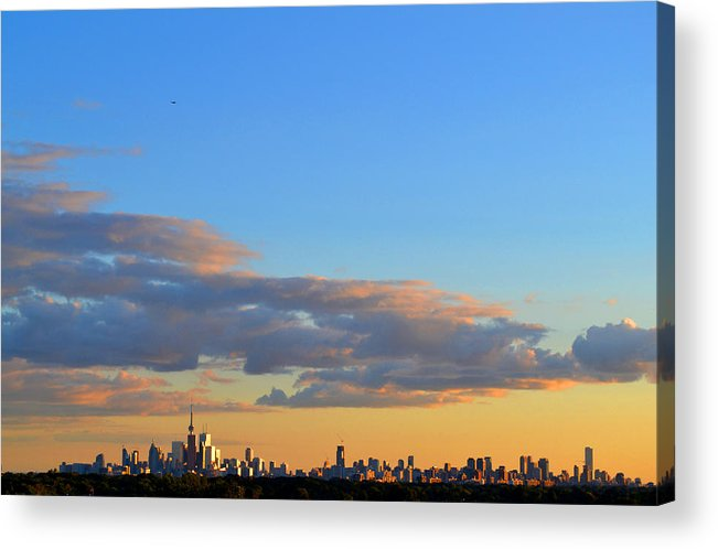 Abstract Acrylic Print featuring the photograph August Early Evening Toronto 4 by Lyle Crump