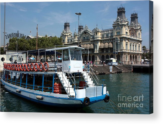 Barcelona Acrylic Print featuring the photograph Barcelona Waterfront by Sophie Vigneault