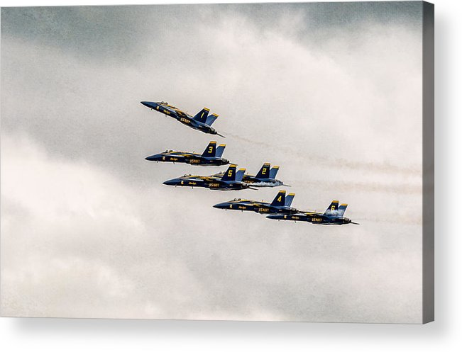 Bethpage Acrylic Print featuring the photograph Blue Angels by Eduard Moldoveanu