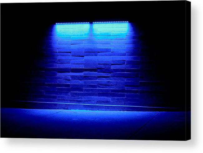 Blue Acrylic Print featuring the photograph Blue Sidewalk by Tony Grider