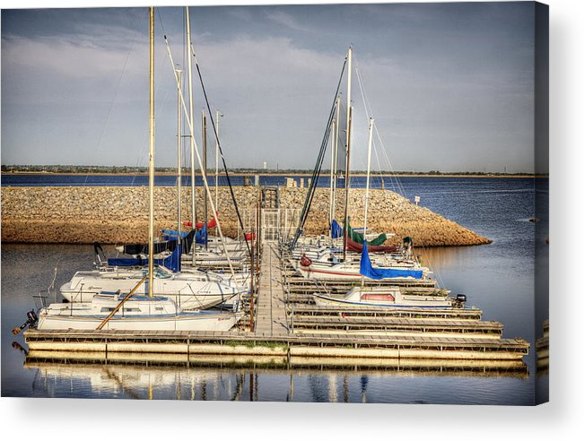 Okc Acrylic Print featuring the photograph Boat Slip by Tom Parash