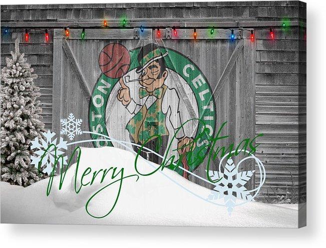 Celtics Acrylic Print featuring the photograph Boston Celtics by Joe Hamilton