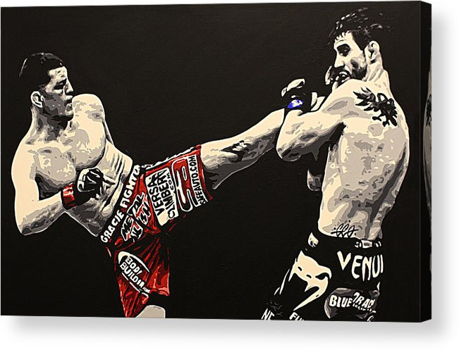Mma Acrylic Print featuring the painting Diaz V Condit by Geo Thomson