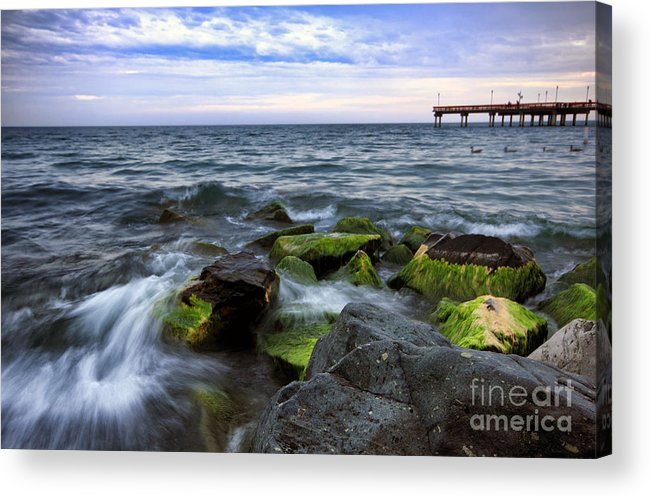 Beach Acrylic Print featuring the photograph Evening Tide by Charline Xia
