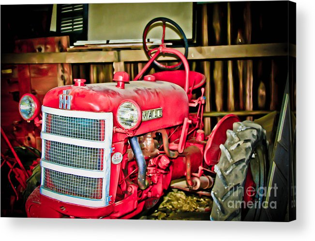 Old Acrylic Print featuring the photograph Forgotten Tractor by Zac Cobb