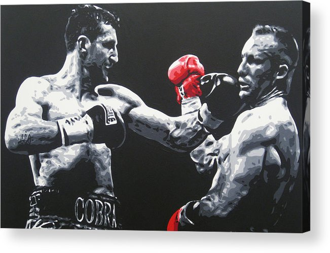Froch Acrylic Print featuring the painting Froch Vs Kessler by Geo Thomson