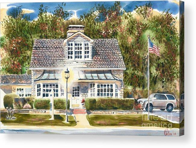 Greystone Inn Ii Acrylic Print featuring the painting Greystone Inn II by Kip DeVore
