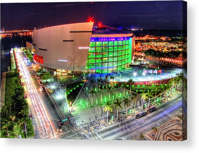 Aaa Acrylic Print featuring the photograph Hdr Of American Airlines Arena by Joe Myeress
